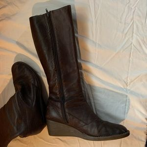 Camper wedge heal tall boots
